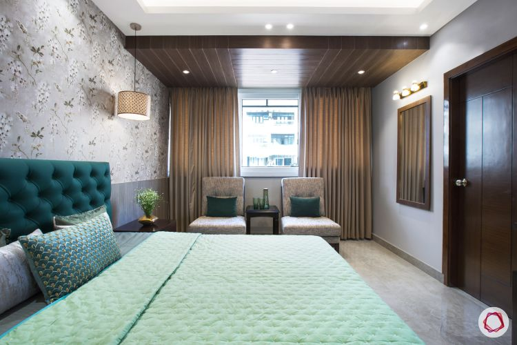 New home design in Dwarka_master bedroom seating view