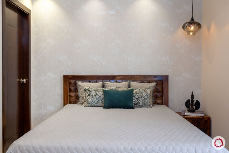 New home design in Dwarka_guest room bed