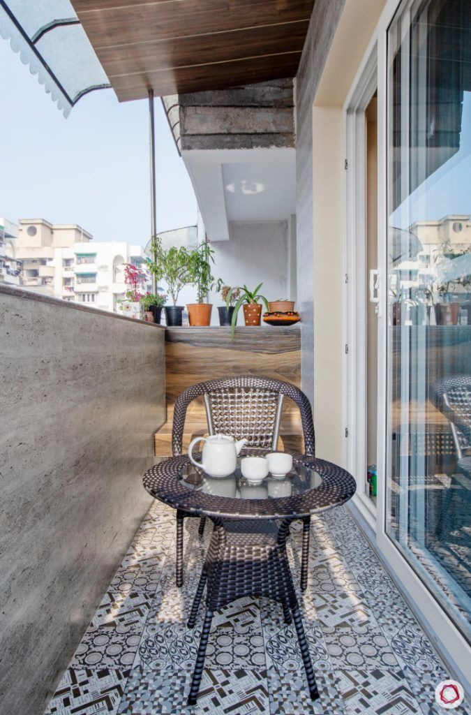 New home design in Dwarka_guest room balcony
