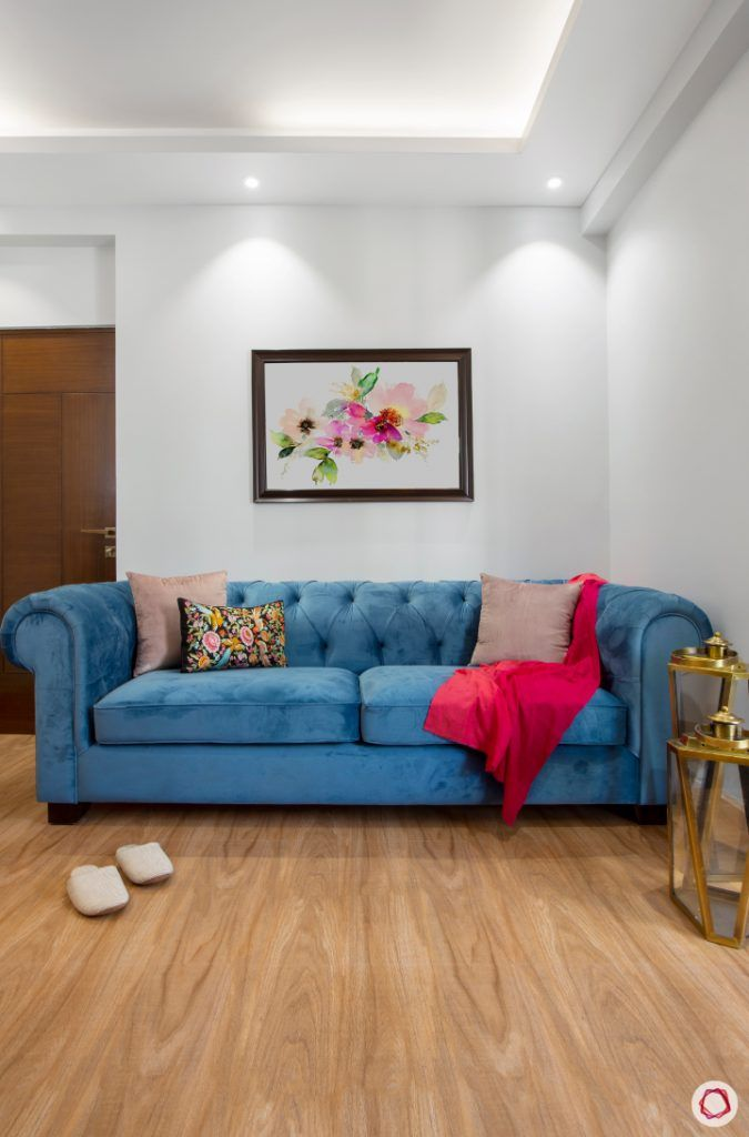 New home design in Dwarka_reading room sofa