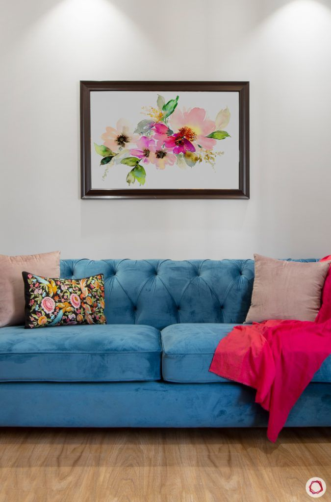 New home design in Dwarka_reading room sofa close up