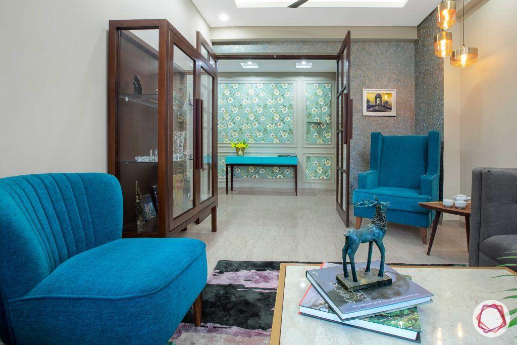 Prateek Stylome-wooden cabinet designs-blue chair designs