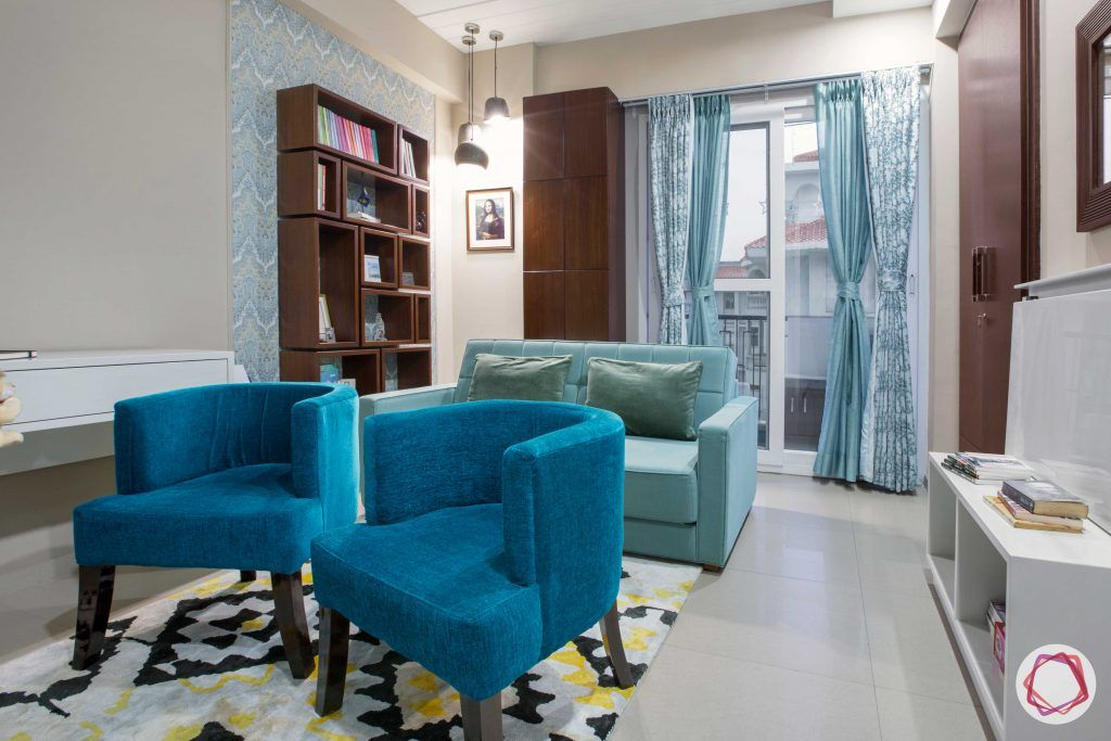 Prateek Stylome-blue chair designs-blue sofa designs