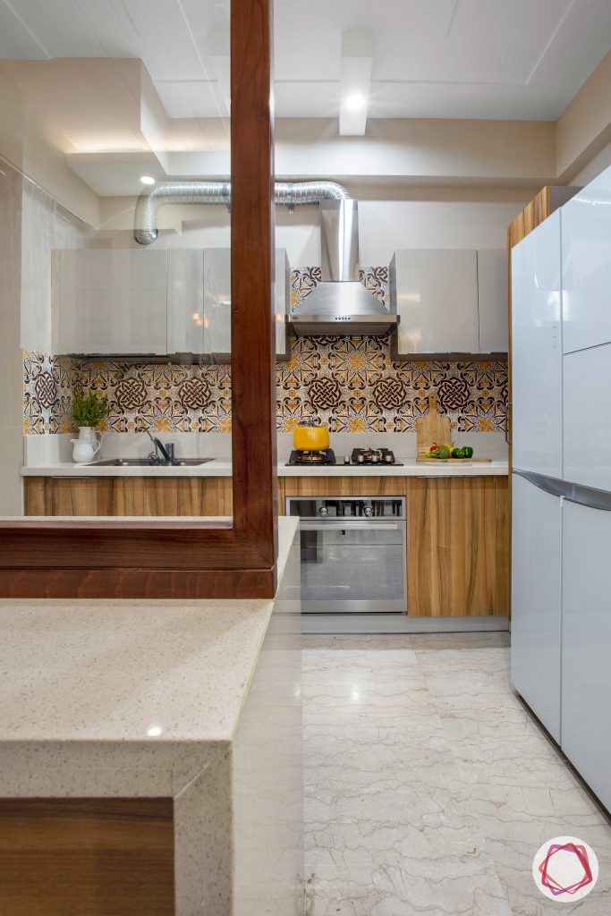 Prateek Stylome-kitchen partition-moroccan tile designs