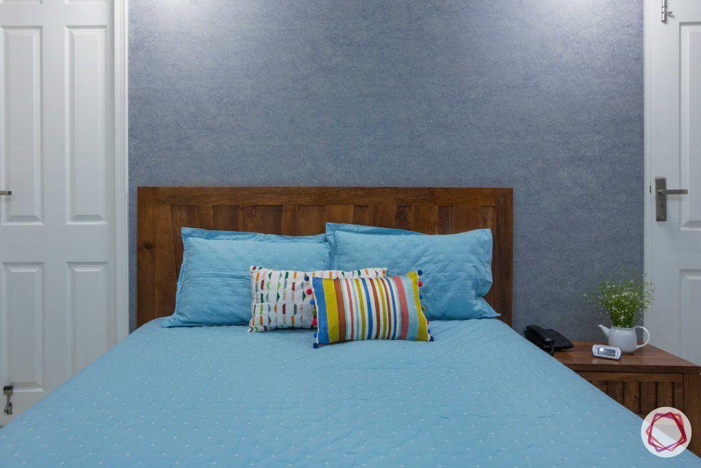 Prateek Stylome-grey wall-wooden headboard