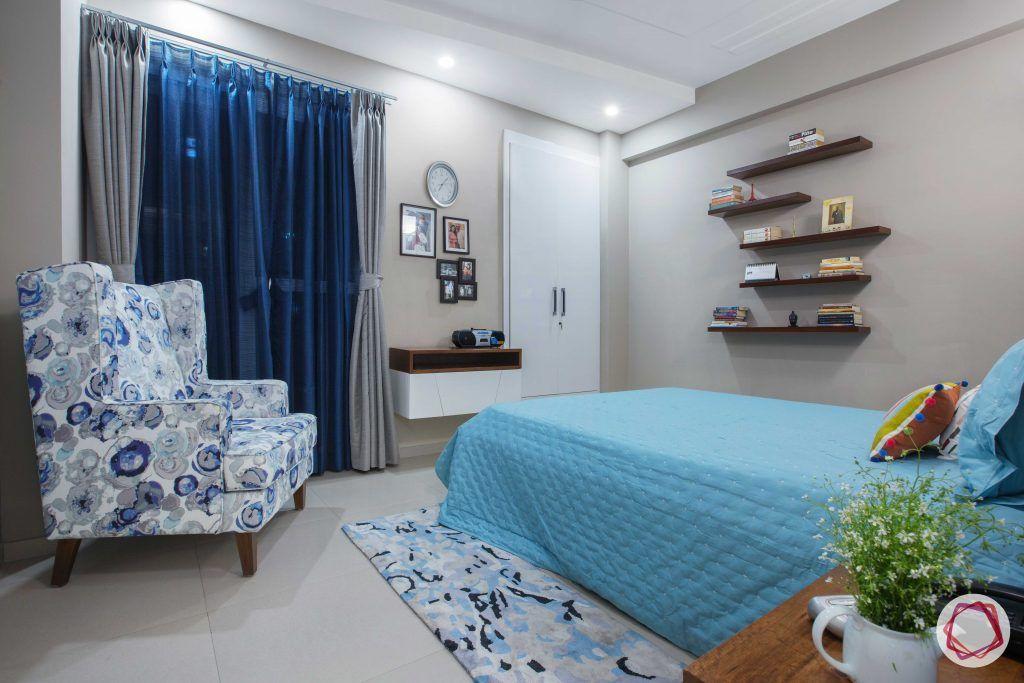 Prateek Stylome-blue accent chair designs-wooden shelf designs
