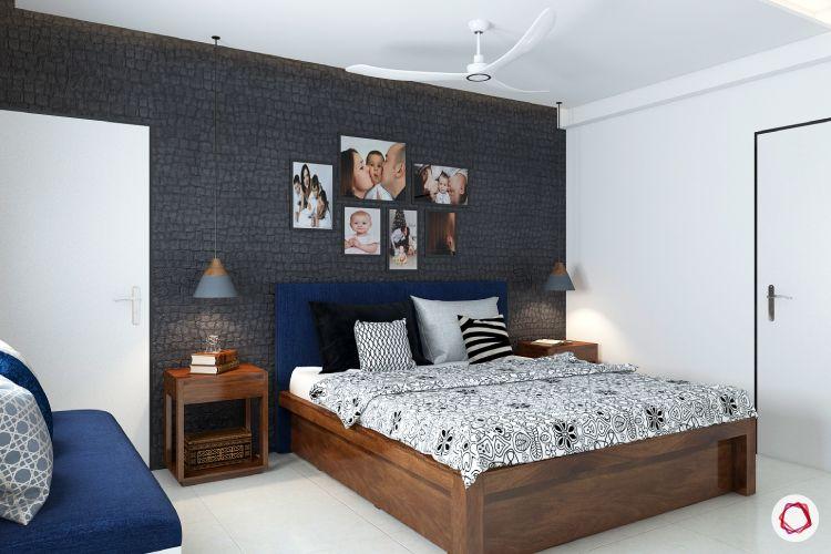 room decor ideas pebble wall