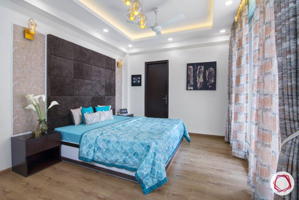 beautiful home design master bedroom blue bed