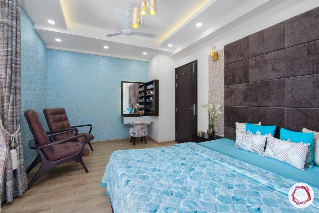 beautiful home design master bedroom blue corner