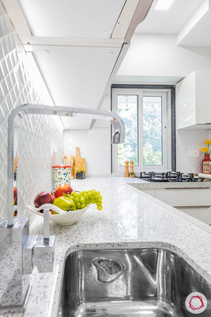 small house plans-kitchen sink-quartz countertop