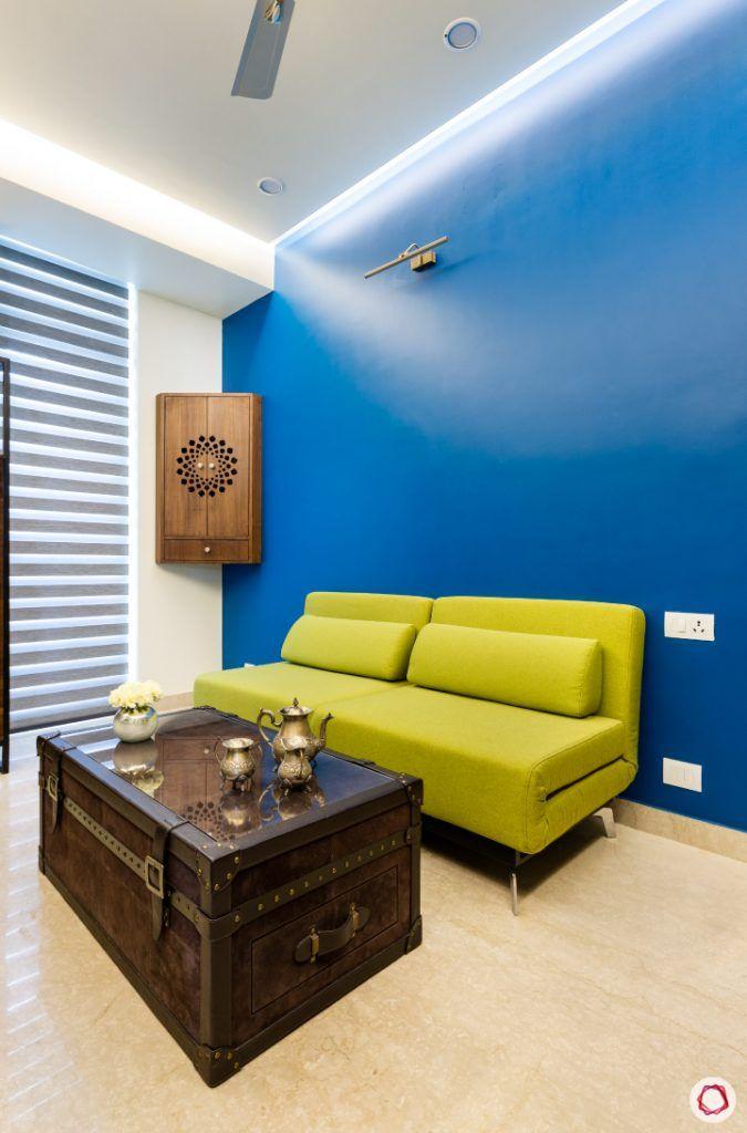 Beautiful home interiors_lounge room pop sofa and wall