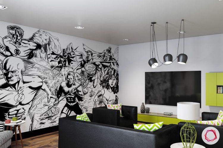 Bachelor pad_entertainment room