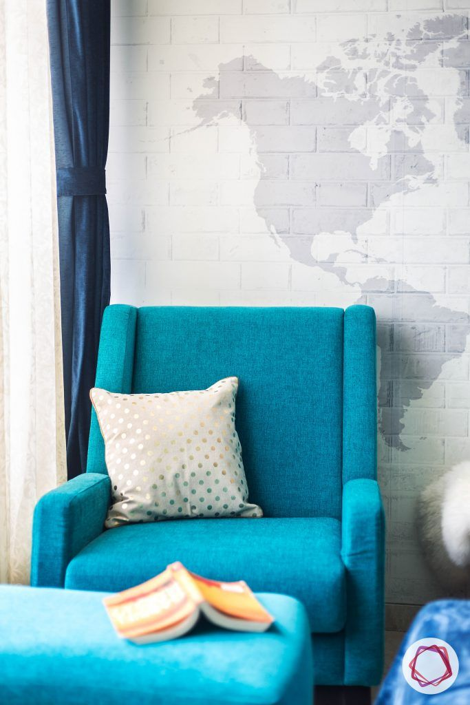 Oberoi esquire_daughters  room teal accent chair