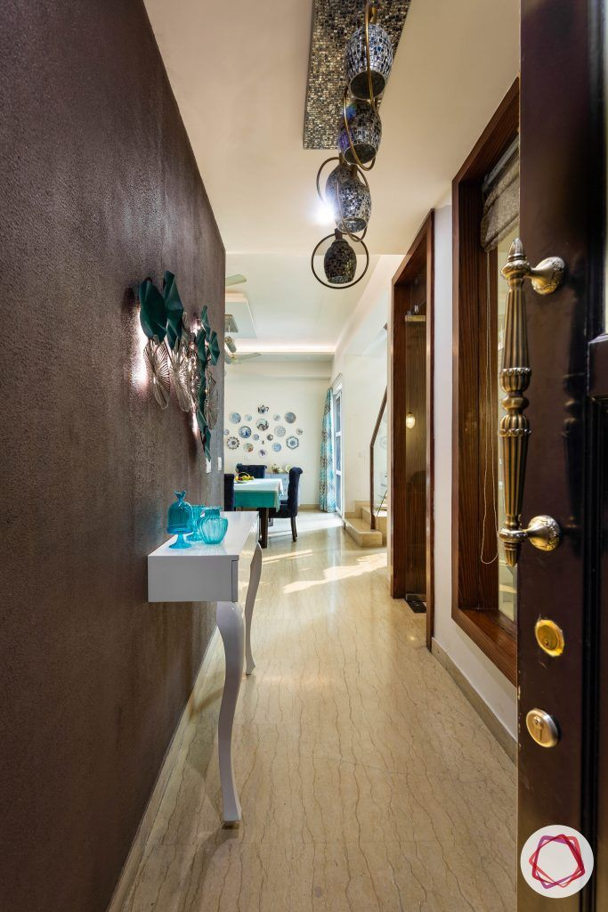 duplex house design foyer