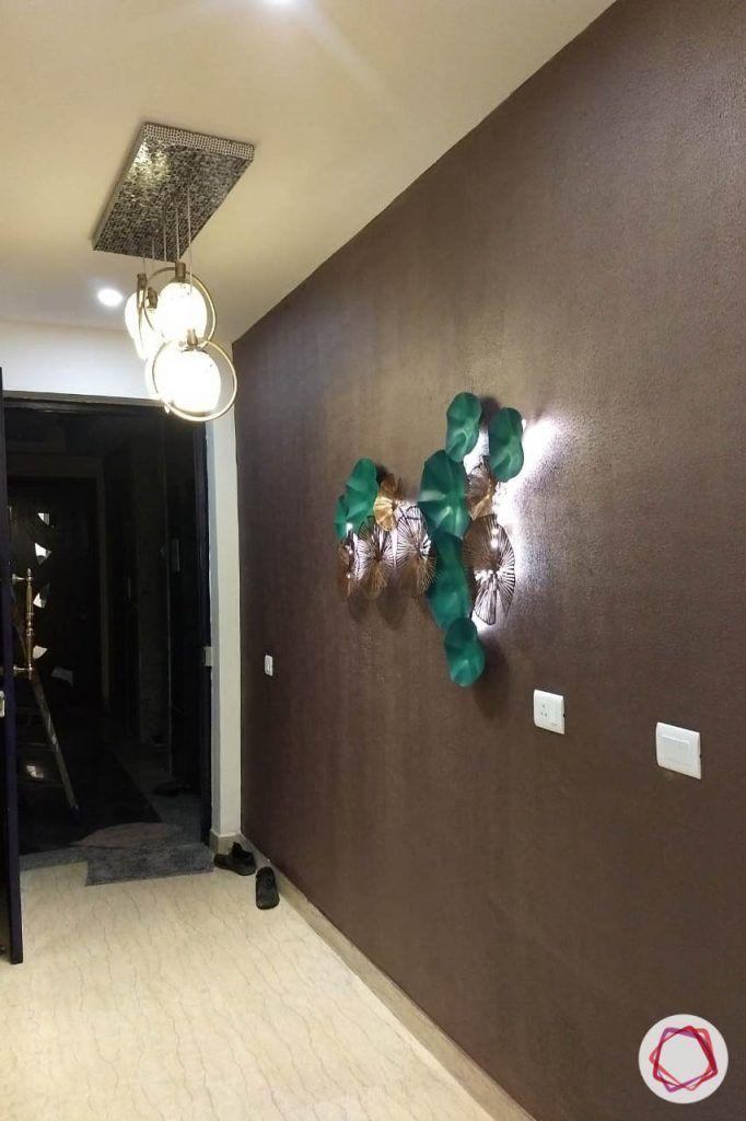 duplex house design foyer wall
