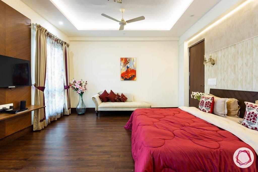 duplex house design bedroom TV