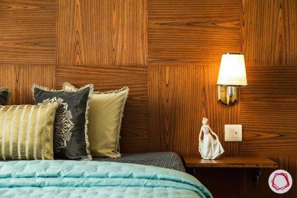 duplex house design bedroom wooden wall