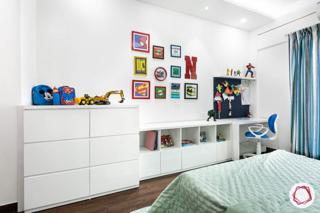 duplex house design kids bedroom cabinets