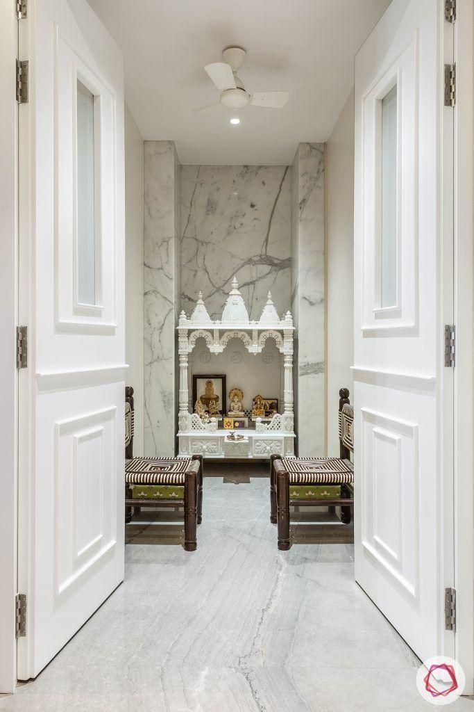 Pooja-Room-Design-Mandir-with-Door-Ornate-White