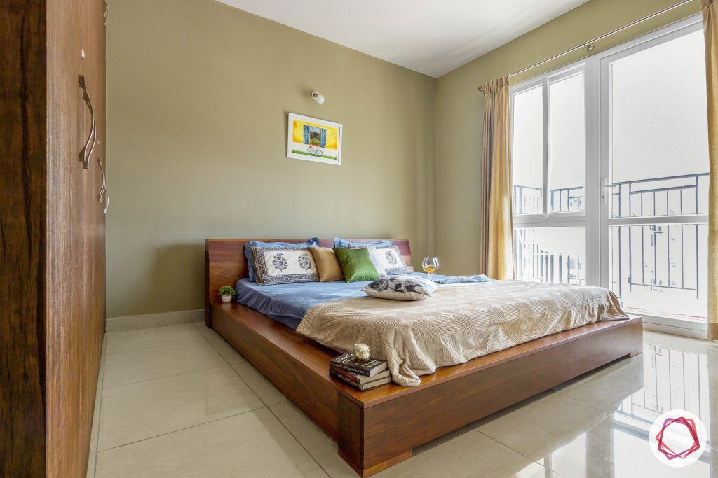 prestige ferns residency bedroom bed