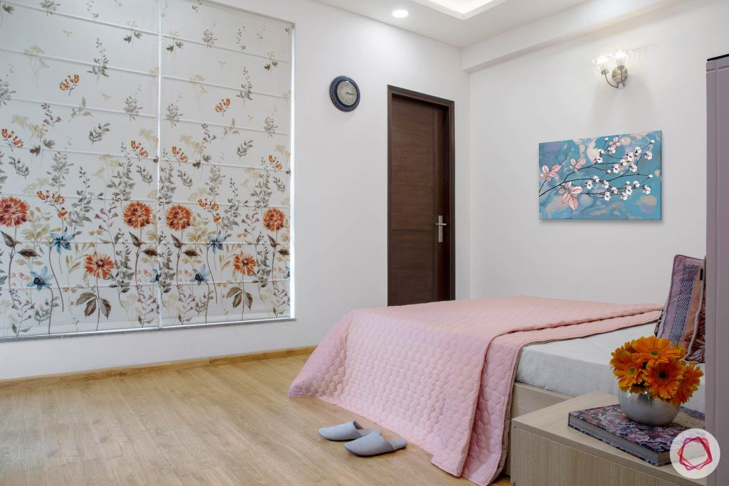 Cleo county noida_floral blinds for parents room
