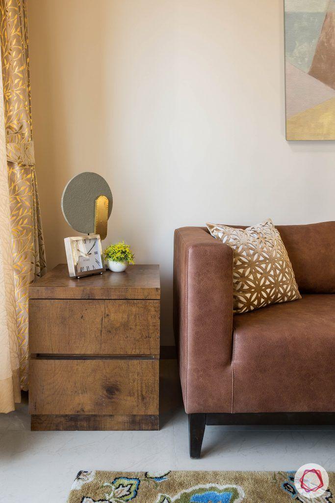 2BHK interior_leather sofa
