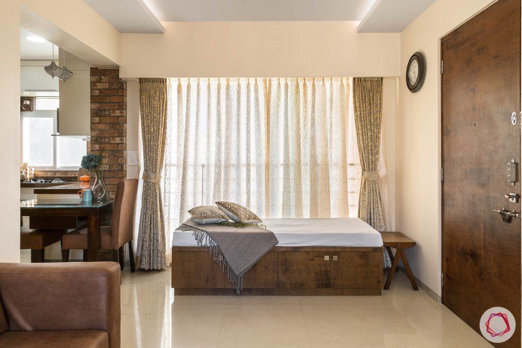 2BHK interior_divan with storage