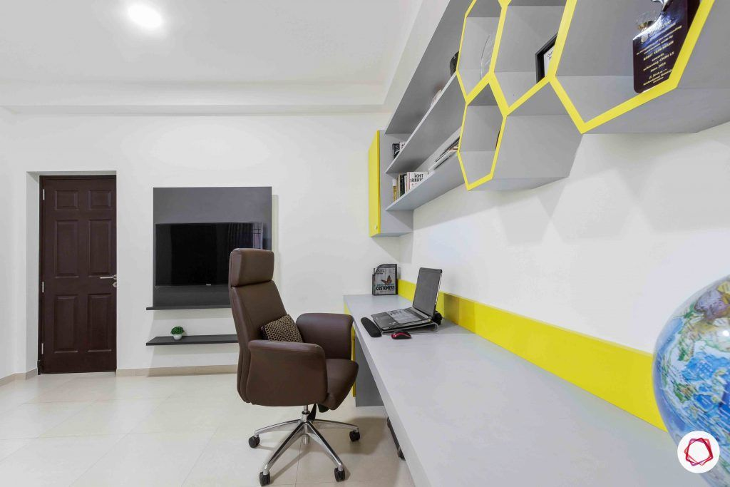 sobha forest view-study room-big study table-office chair
