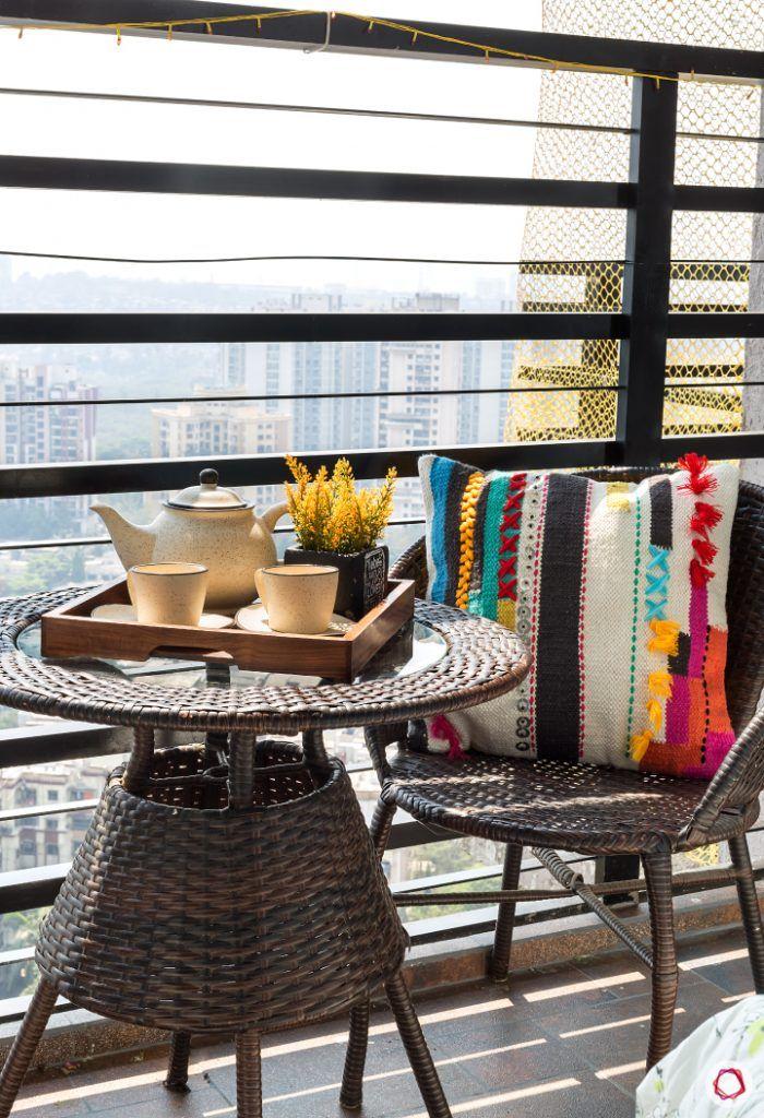 small space interior design-balcony seating ideas-small balcony seating