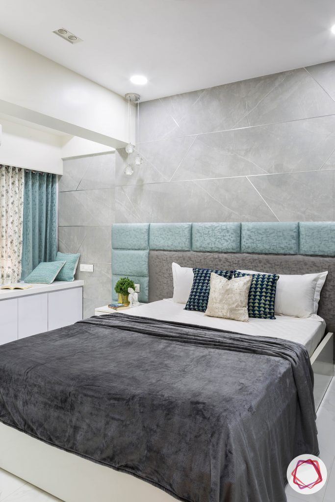 house-renovation-master-bedroom-grey-headboard-stonewall-lights