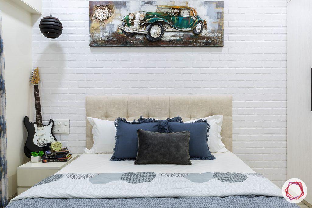 house-renovation-second-bedroom-headboard-side-table-hanging-light