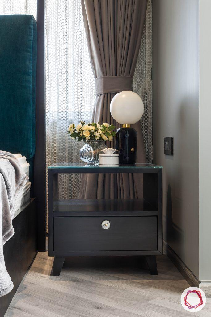 4bhk house plan-master bedroom designs-wooden side table-bedside table- side table designs