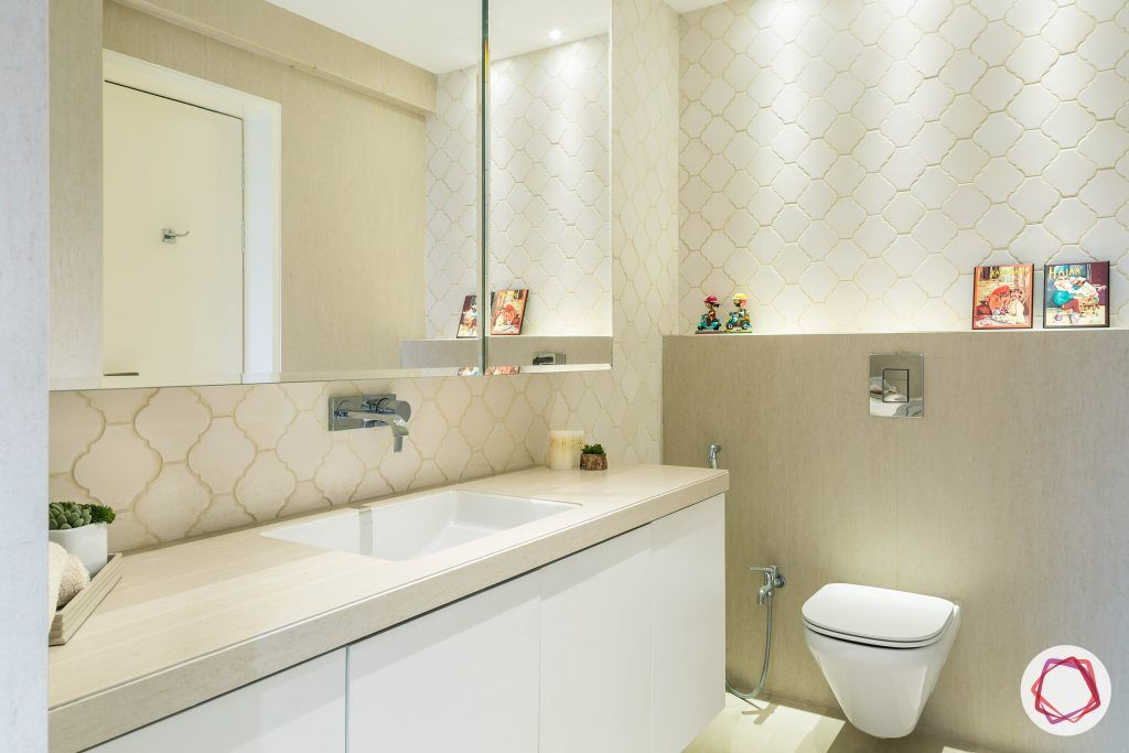 4bhk house plan-bathroom designs-bathroom tiles-moroccan tiles-vanity unit