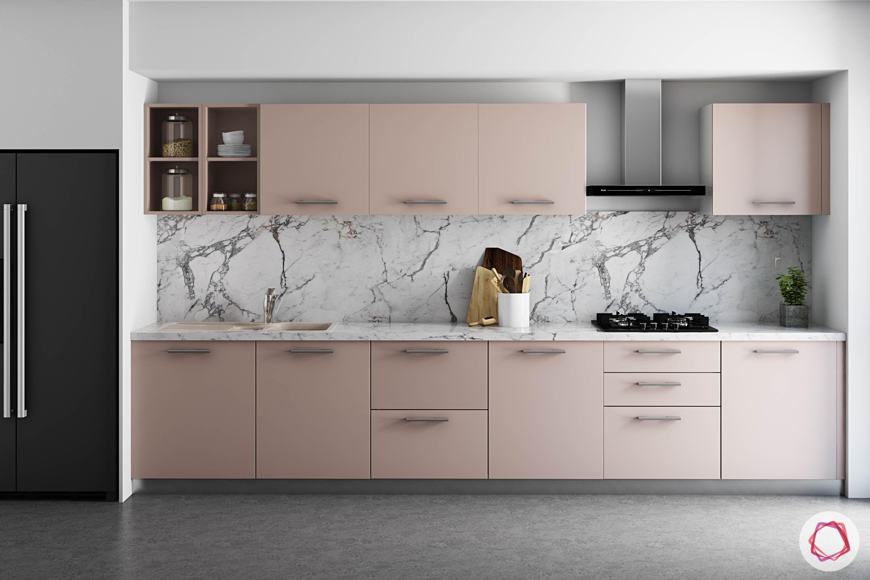 wall-tiles-design-laminam-backsplash-pink-cabinets-fridge-modern