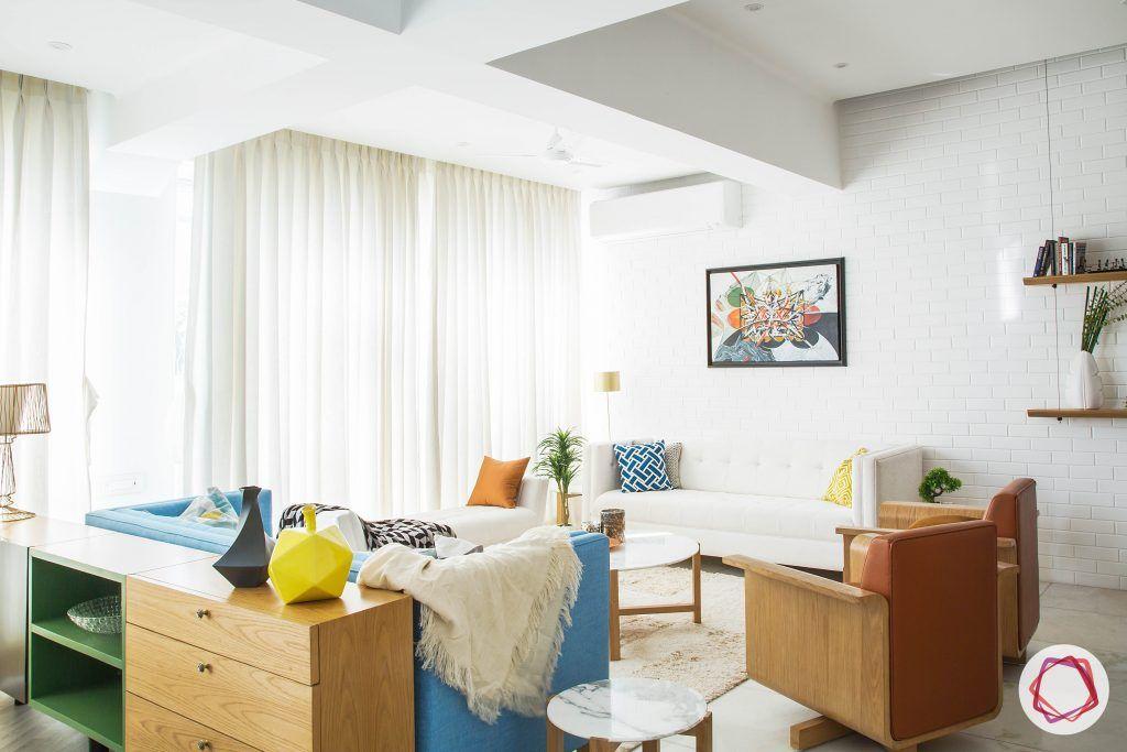 minimalism-scandinavian living room-scandinavian design-wall white sofa design-sheer curtain designs