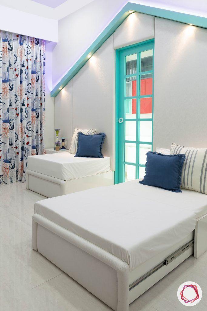 minimalism-minimal decor-minimal design-kids room decor-kids room furniture-sofa-cum bed designs