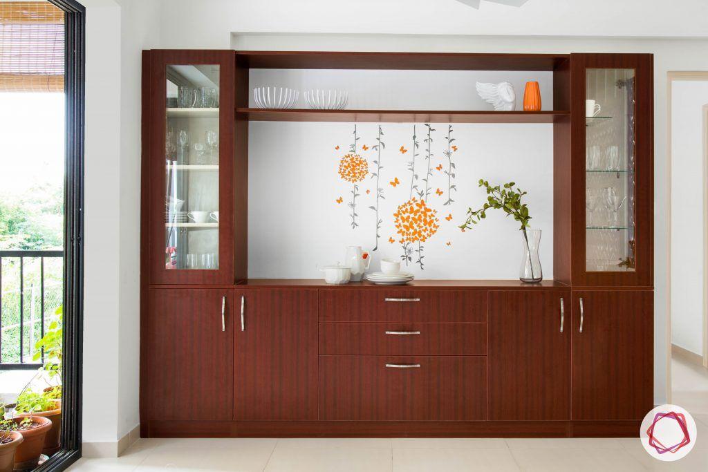 minimalism-minimal decor-indian minimalist home-crockery cabinet designs