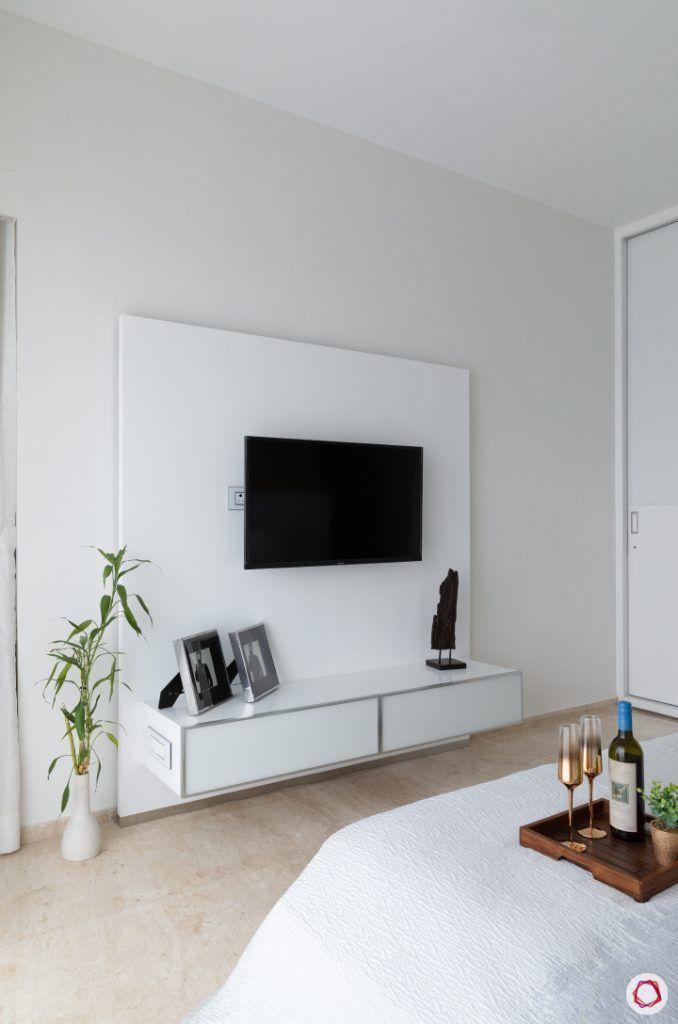 minimalism-minimal decor-white bedroom decor-minimal tv cabinet- white TV cabinet-wooden floor designs