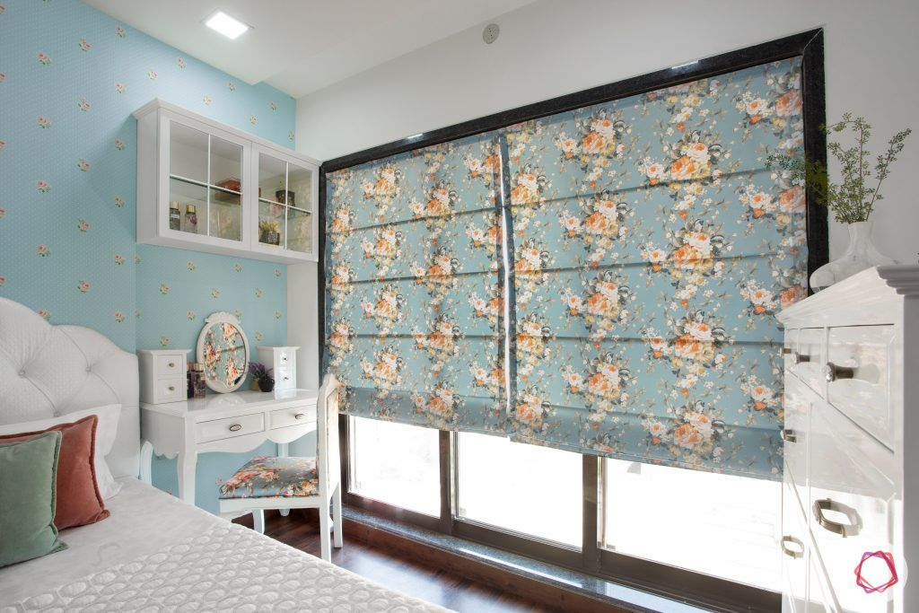 floral print-blue blinds designs-blue floral designs