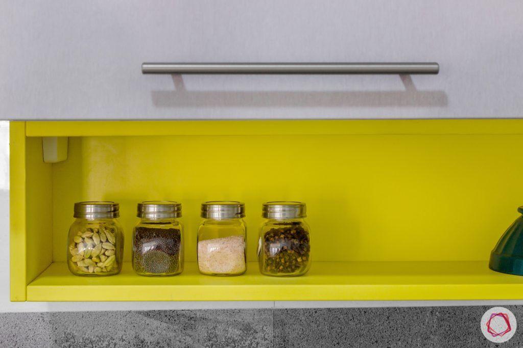 brigade northridge-budget kitchen design-spice rack designs-yellow spice rack