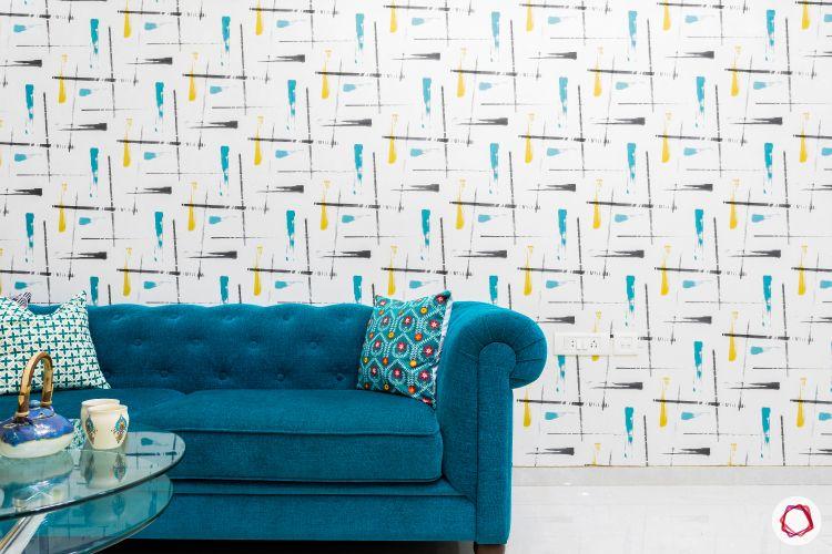 living-room-decor-ideas-wallpaper-printed wallpaper-colourful wallpaper-wall design
