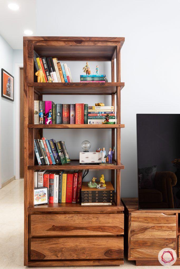crescent bay-bookshelf-wooden bookshelf-tv unit