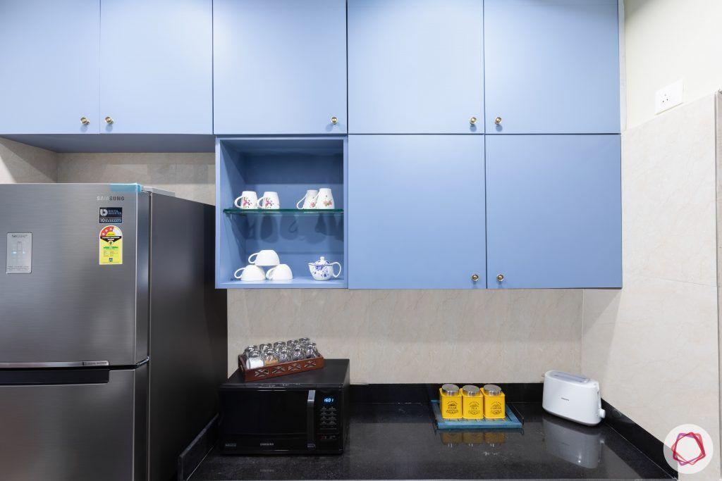 crescent bay-modular kitchen-overhead cabinets-open shelves