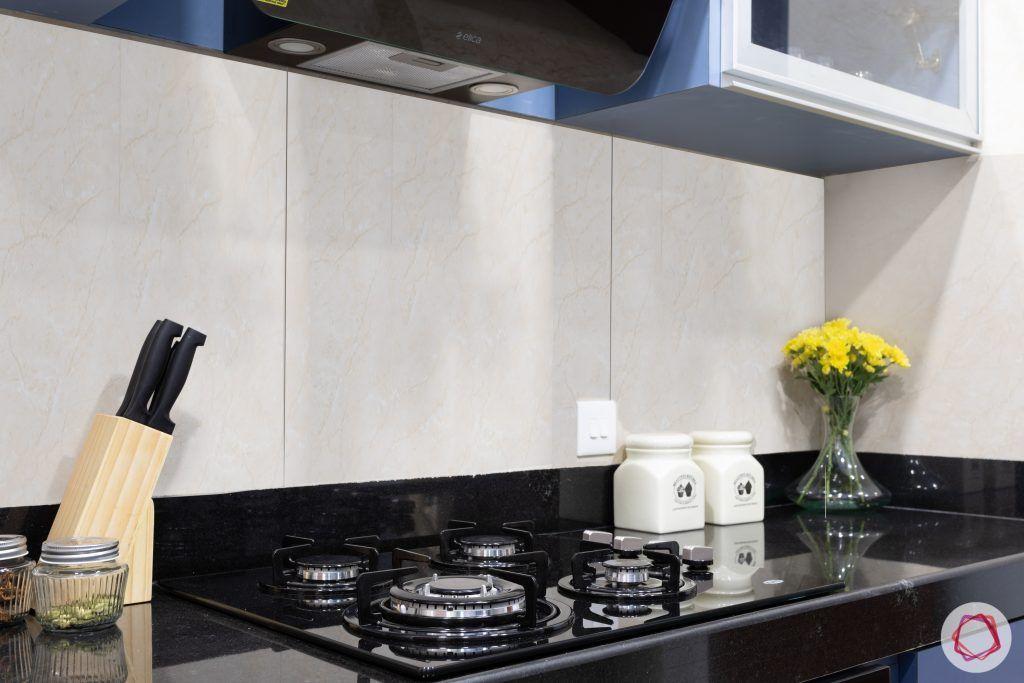 crescent bay-modular kitchen-stove-granite countertop