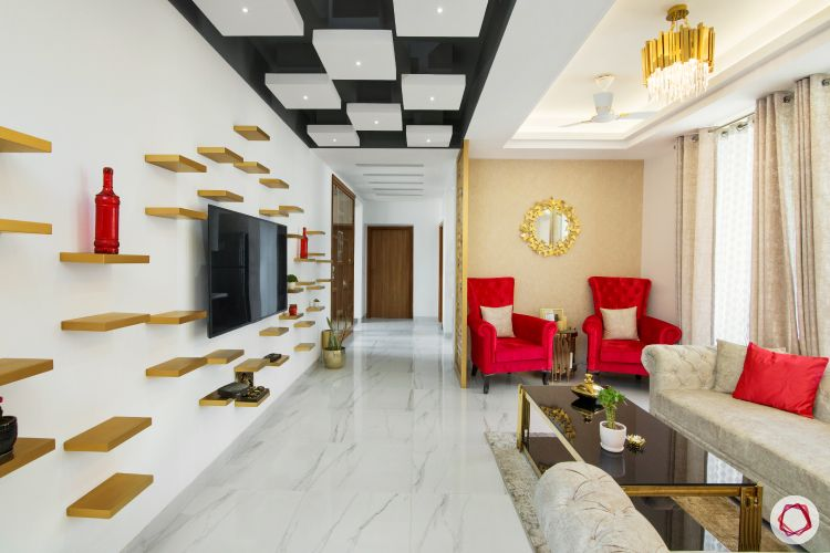 false ceiling ideas-box ceiling-trendy ceiling-black and white-checkered ceiling