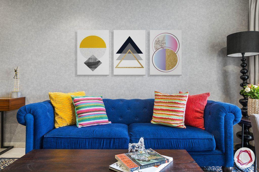 lodha group-living room designs-blue sofa designs-tufted sofa design