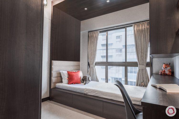 godrej homes-mumbai home-kids bedroom-kids bed-platform bed-laminate panel