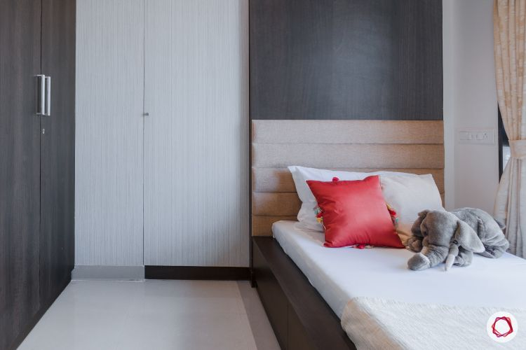godrej homes-mumbai home-kids bedroom-kids platform bed-hidden dresser-laminate wardrobe