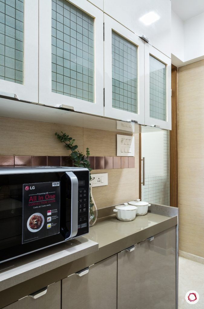 best interior designers in mumbai-kitchen-frosted glass shutter-countertop