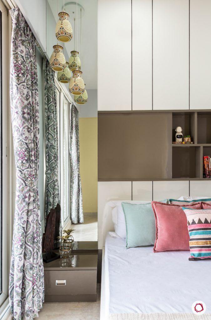 best interior designers in mumbai-guest room-dresser-side table-full length mirror